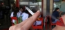 smoking outside cafe